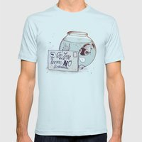 No Boundaries Mens Fitted Tee Light Blue SMALL