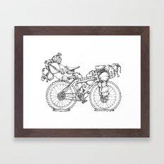 Bikepacking Framed Art Print