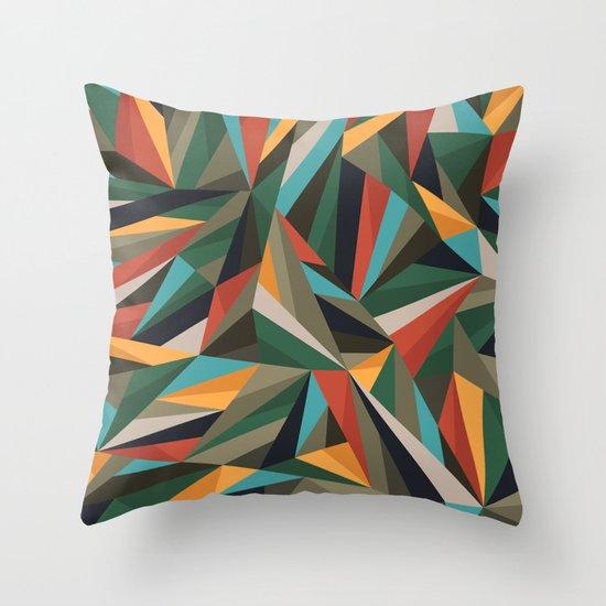 Sliced Fragments II Throw Pillow