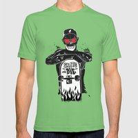 SKATE OR DIE Mens Fitted Tee Grass SMALL
