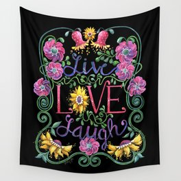 Wall Tapestry - Live Love Laugh 2 - Shelley Ylst Art
