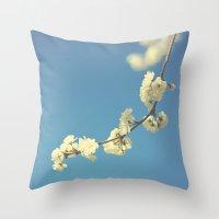 My Vintage Blue Sky Throw Pillow