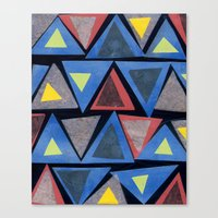 Collage Triangle Pattern Canvas Print
