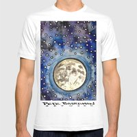 Nightsky Mens Fitted Tee White SMALL