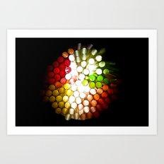 Honeycomb Illumination Art Print