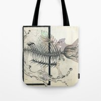 rose-Fish-bone dinosaur Tote Bag
