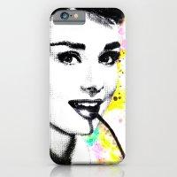 audrey hepburn iPhone & iPod Cases featuring AUDREY HEPBURN by Simone Morana Cyla