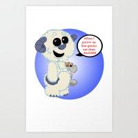 Lil wampa (blue) Art Print