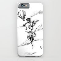 iPhone & iPod Case featuring Flying Skull by HanYong