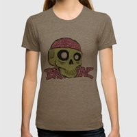 BRAINZ Womens Fitted Tee Tri-Coffee SMALL