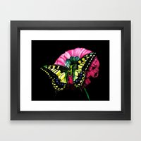 Watercolor Butterfly Framed Art Print