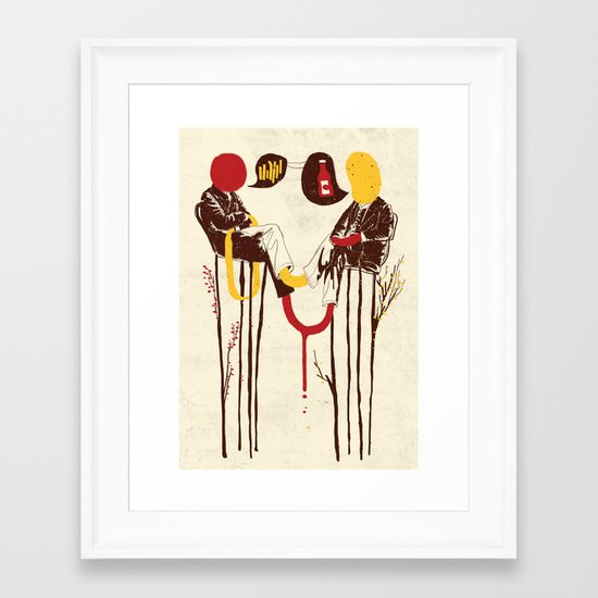The Negotiation Framed Art Print
