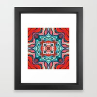 Red V Framed Art Print