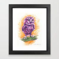 Cute Lil' Ol' Owl Framed Art Print
