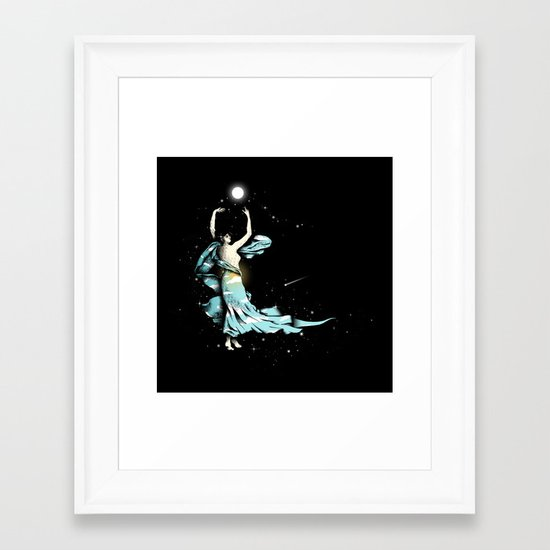 Dance Into The Moonlight Framed Art Print