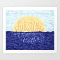 Face The Sunshine Art Print