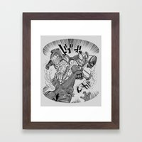 Double Rocket Punch!! Framed Art Print