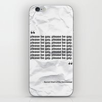 The Sacred Chant of the Homosexual iPhone & iPod Skin