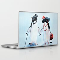 penguin Laptop & iPad Skins featuring Penguin by Anna Shell