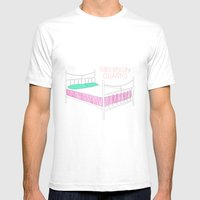 Tres En Un Cuarto Mens Fitted Tee White SMALL