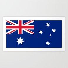 Australian flag - Authentic version Art Print