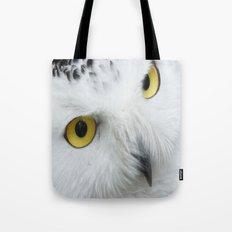 Snowy Owl Eyes Tote Bag