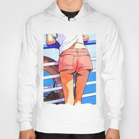 a girl on the boat Hoody
