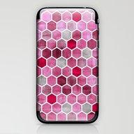 Pink Ink - Watercolor He… iPhone & iPod Skin