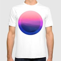Como Sunset Mens Fitted Tee White SMALL