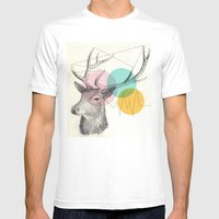 stitch doe Mens Fitted Tee White SMALL