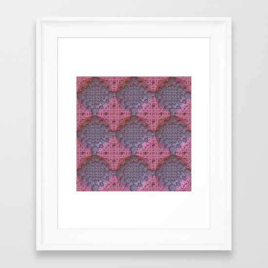 Recessed Lace Framed Art Print