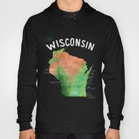 Wisconsin Map Hoody