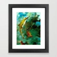 Delphin Framed Art Print