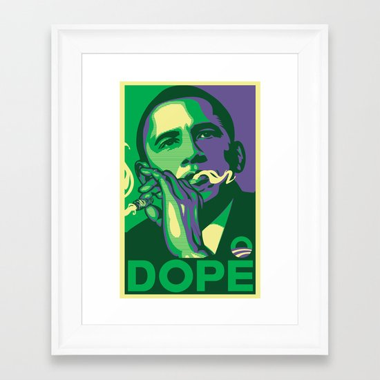 the dopest president Framed Art Print