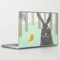 rabbit Laptop & iPad Skins featuring Rabbit by Dream Of Forest