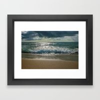 Just Me And The Sea Framed Art Print