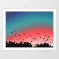 Birds Flying High Art Print