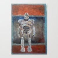 Iron Giant And Rothko Canvas Print