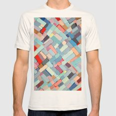 Summer in the City Mens Fitted Tee Natural SMALL