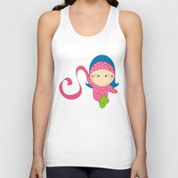 Ballerina -- Fun, sweet, unique, creative and very colorful, original,digital children illustration Unisex Tank Top