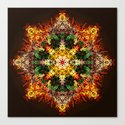star caleidoscope koztar Canvas Print
