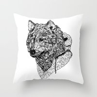Mr Wolf Throw Pillow