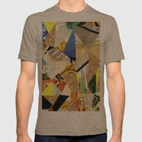 Quilted Mens Fitted Tee Tri-Coffee SMALL