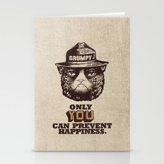 Grumpy PSA Stationery Card