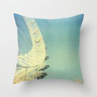 London Eye, Polaroid Throw Pillow