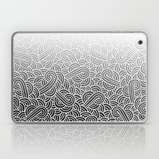 Ombre black and white swirls doodles Laptop & iPad Skin