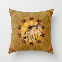 HORSES - The Buckskins Throw Pillow