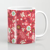 Fresh Blossoms (Reds) Mug
