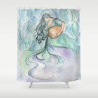 Aquarius Shower Curtain