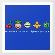 Geek Food Art Print